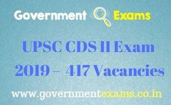 UPSC CDS II Exam 2019