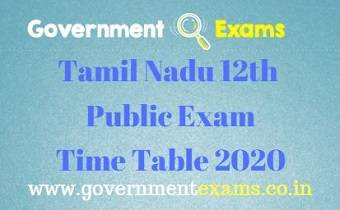 12th Public Time Table 2020