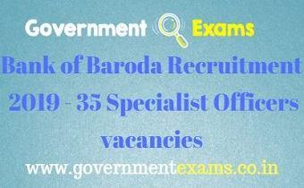 Bank of Baroda Recruitment 2019