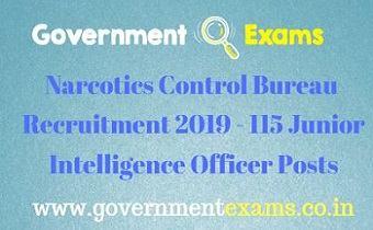 Narcotics Control Bureau Recruitment 2019