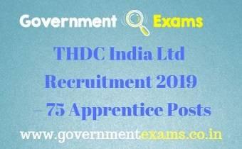 THDC India Ltd Recruitment 2019