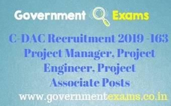 C-DAC Recruitment 2019