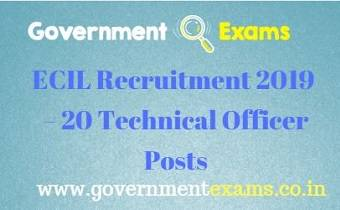 ECIL Technical Officer Recruitment 2019
