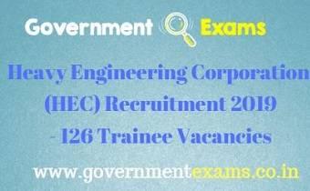 HEC Recruitment 2019