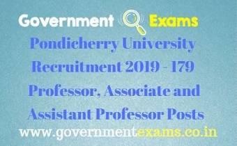Pondicherry University Recruitment 2019