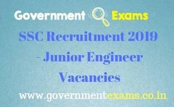 SSC Junior Engineer Recruitment 2019