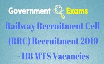 RRC Recruitment 2019