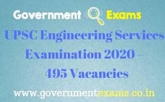 UPSC ESE Recruitment 2019
