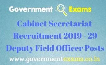 Cabinet Secretariat Recruitment 2019