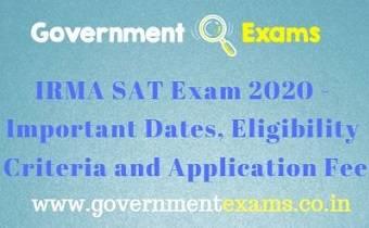 IRMA SAT Exam 2020