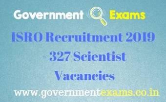 ISRO Scientist Recruitment 2019