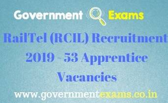 RailTel (RCIL) Recruitment 2019