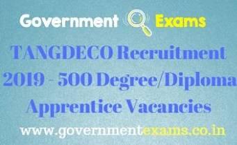 TANGDECO Recruitment 2019