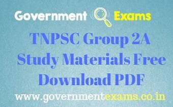 TNPSC Group 2A Study Materials