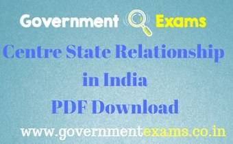 Centre State Relationship in India