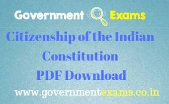 Citizenship of Indian Constitution