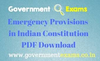 Emergency Provisions in Indian Constitution