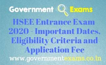 HSEE Entrance Exam 2020
