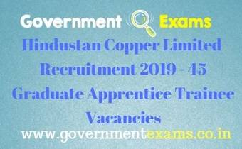 Hindustan Copper Limited Recruitment 2019