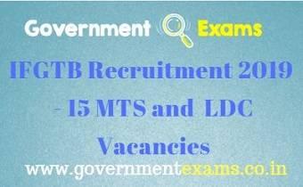 IFGTB Recruitment 2019