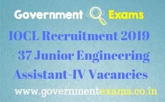 IOCL Junior Engineering Assistant Recruitment 2019