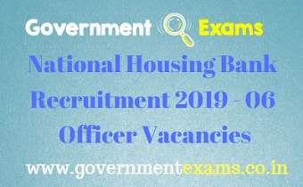 NHB Recruitment 2019