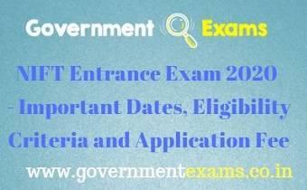 NIFT Entrance Exam 2020