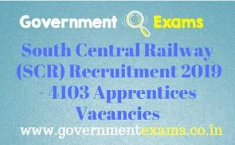 SCR Apprentices Recruitment 2019
