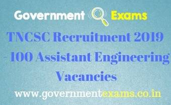 TNCSC Assistant Engineer Recruitment 2019