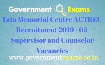Tata Memorial Centre ACTREC Recruitment 2019