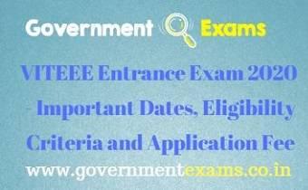 VITEEE Entrance Exam 2020