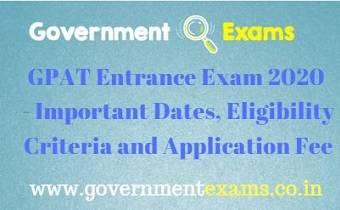 GPAT Entrance Exam 2020