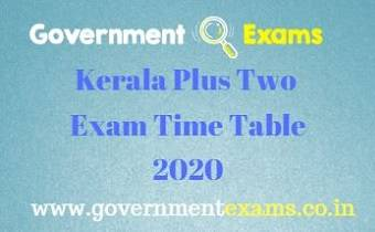 Kerala Plus Two Exam Time Table 2020