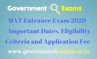 MAT Entrance Exam 2020