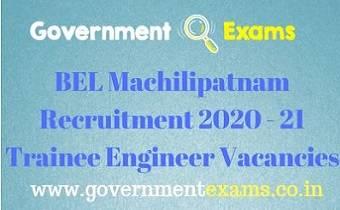 BEL Machilipatnam Recruitment 2020