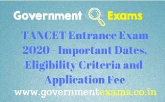 TANCET Entrance Exam 2020
