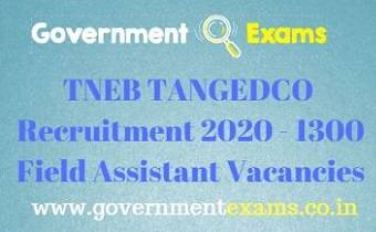 TNEB Assessor Recruitment 2020
