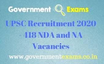 UPSC NDA and NA Recruitment 2020