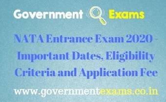 NATA Entrance Exam 2020
