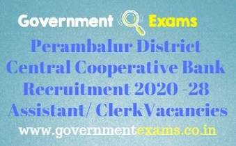Perambalur District Recruitment Bureau Recruitment 2020