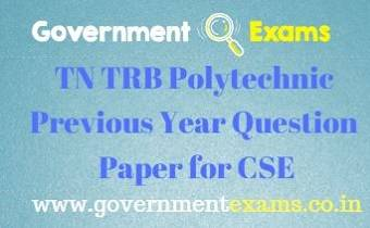 TRB Polytechnic Previous Year Question Paper for CSE