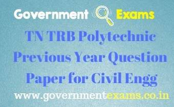 TRB Polytechnic Previous Year Question Paper for Civil Engineering