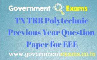 TRB Polytechnic Previous Year Question Paper for EEE