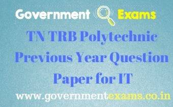 TRB Polytechnic Previous Year Question Paper for Information Technology