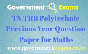 TRB Polytechnic Previous Year Question Paper for Mathematics