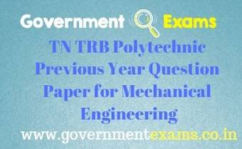 TRB Polytechnic Previous Year Question Paper for Mechanical Engineering