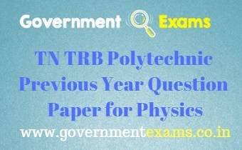 TRB Polytechnic Previous Year Question Paper for Physics