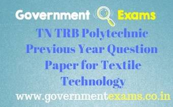TRB Polytechnic Previous Year Question Paper for Textile Technology