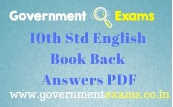 10th English Book Back Answers