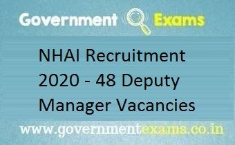 NHAI Recruitment 2020